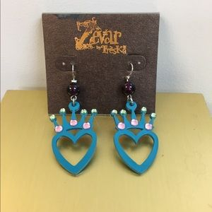 Zevar by Treska Pierced Earrings NEW